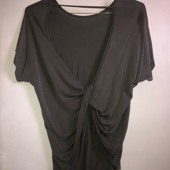 Olivaceous Tops - Olivaceous large gray twisted cut out back